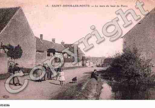 Ville de SAINTDENISLESPONTS, carte postale ancienne