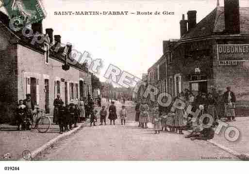 Ville de SAINTMARTIND'ABBAT, carte postale ancienne