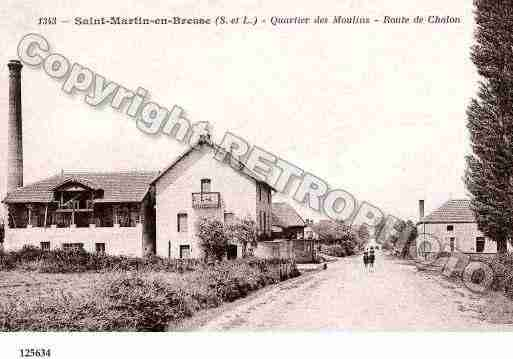 Ville de SAINTMARTINENBRESSE, carte postale ancienne