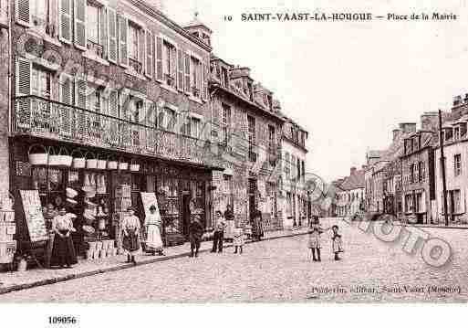 Ville de SAINTVAASTLAHOUGUE, carte postale ancienne