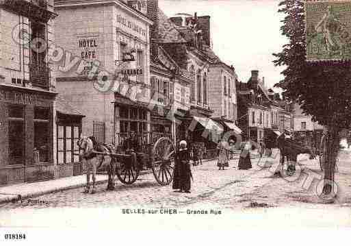 Ville de SELLESSURCHER, carte postale ancienne